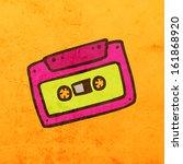 Audiocassette. Cute Hand Drawn...
