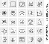 25 universal icons vector... | Shutterstock .eps vector #1618699789