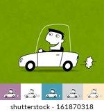 driver. business cartoon... | Shutterstock .eps vector #161870318
