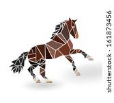 abstract colored horse ... | Shutterstock .eps vector #161873456
