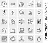 25 universal icons vector... | Shutterstock .eps vector #1618734970