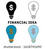 financial idea icon set. flat...