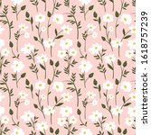 botanical seamless pattern with ... | Shutterstock .eps vector #1618757239