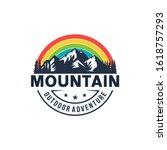 high mountain icon logo vector... | Shutterstock .eps vector #1618757293