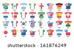 countries flags icons in jersey ... | Shutterstock . vector #161876249