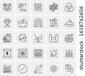 25 universal icons vector...   Shutterstock .eps vector #1618762606