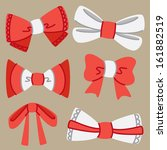 set of cute ribbon | Shutterstock .eps vector #161882519