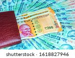 close up shot of wallet with... | Shutterstock . vector #1618827946