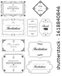 set of ornate vector frames and ... | Shutterstock . vector #1618840846