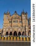 Small photo of Mumbai Maharashtra India December 31 2019 Close- up veiw of Chhatrapati Shivaji Terminus formerly Victoria Terminus in Mumbai, India is a UNESCO World Heritage Site and historic railway station which