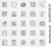 25 universal icons vector... | Shutterstock .eps vector #1618933219