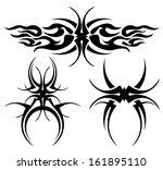 tribal tattoo  | Shutterstock .eps vector #161895110
