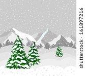 winter forest in vector | Shutterstock .eps vector #161897216