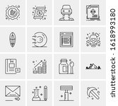 business icon set. 16 universal ...   Shutterstock .eps vector #1618993180