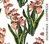 tropical beautiful flowers... | Shutterstock .eps vector #1618998226