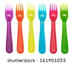 Plastic Forks Violet  Orange ...