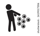 trypophobia icon. fear of holes ...   Shutterstock .eps vector #1619017306