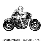 a black and white illustration...   Shutterstock . vector #1619018776