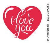 happy valentines day card with... | Shutterstock .eps vector #1619039356