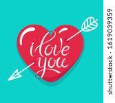 valentines day card with... | Shutterstock .eps vector #1619039359