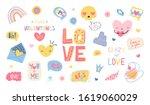 set of designer elements for... | Shutterstock .eps vector #1619060029