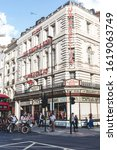 Small photo of London/UK-24/07/18: The Umbrella Shop at 53 New Oxford Street is largely unaltered and is a perfect example of Victorian shop front design. It remains as one of the landmarks of Central London