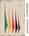mid century modern background ...   Shutterstock .eps vector #1619093809