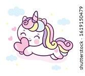 Cute Unicorn Vector Pony Child...