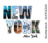 New York Collage Of Different...