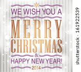 vector merry christmas and... | Shutterstock .eps vector #161922539