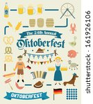 oktoberfest retro creation kit  ... | Shutterstock .eps vector #161926106