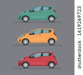 Colorful Car Set. Isolated Aut...