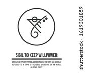 sigil to keep your willpower. a ...   Shutterstock .eps vector #1619301859