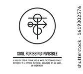 sigil for being invisible and...   Shutterstock .eps vector #1619302576