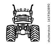 monster truck icon. off road... | Shutterstock .eps vector #1619363890