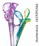 art abstract flowers .hand...   Shutterstock . vector #1619391466