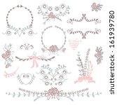 wedding graphic set | Shutterstock .eps vector #161939780
