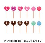 a collection of valentine... | Shutterstock .eps vector #1619417656