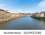 Arno River In Pisa   Italy