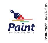 paint logo  paint services logo ... | Shutterstock .eps vector #1619424286