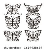 set of cutting butterflies... | Shutterstock .eps vector #1619438689