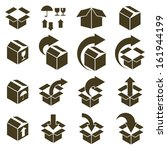 packaging boxes icons isolated... | Shutterstock .eps vector #161944199