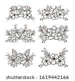 Beautiful Floral Cut File Elements