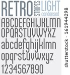 retro line stripes effect font  ... | Shutterstock .eps vector #161944298