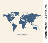 world map vector illustration | Shutterstock .eps vector #161946296