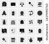 25 universal icons vector...   Shutterstock .eps vector #1619490763