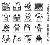 manicurist icons set. outline... | Shutterstock .eps vector #1619500879