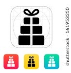 gift boxes icon. vector...