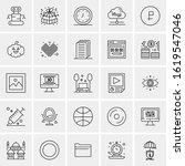 25 universal icons vector...   Shutterstock .eps vector #1619547046