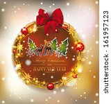 greeting card with christmas... | Shutterstock .eps vector #161957123